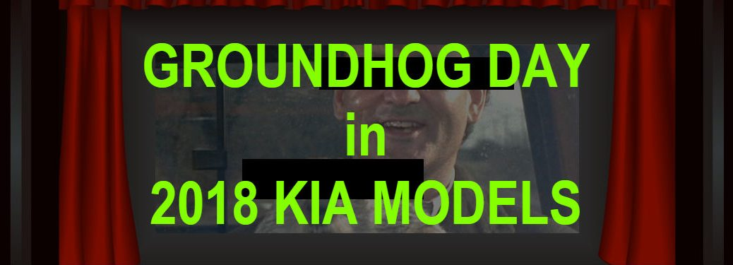 groundhog day in 2018 kia models interposed over image of theatre with groundhog day scene on screen