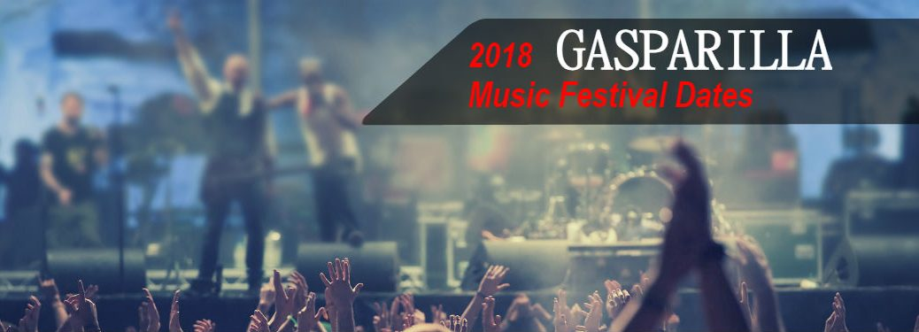concert with overlaid text - When is the 2018 Gasparilla Music Festival?