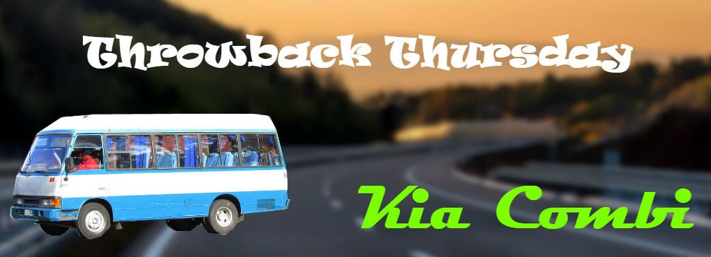 kia combi on background of blurry highway with text throwback thursday kia combi