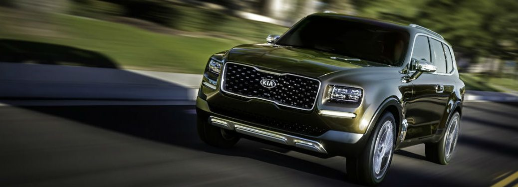 2019 Kia Telluride SUV concept driving on road