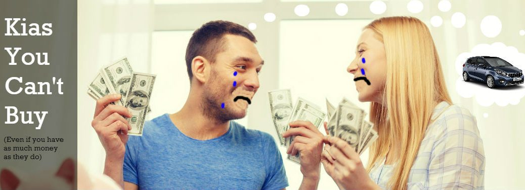 couple sad with money because they can't buy the kia carens in the united states