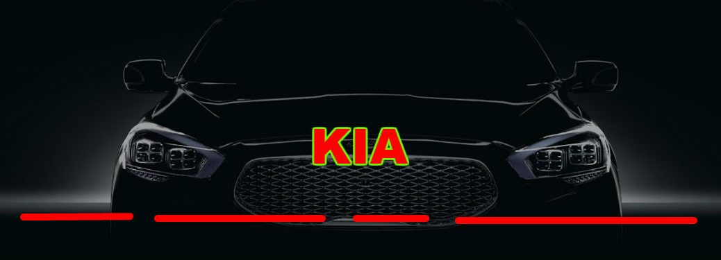 2019 kia k900 with empty spaces in front of it
