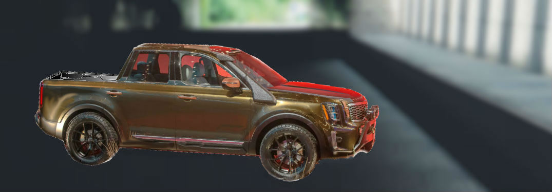 mocked up Kia Telluride pickup truck