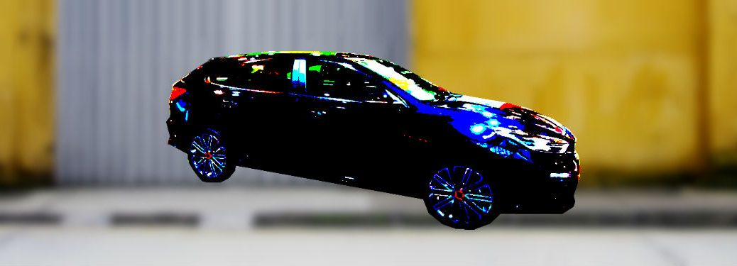 2020 kia forte5 hatchback blurred with artsy filter