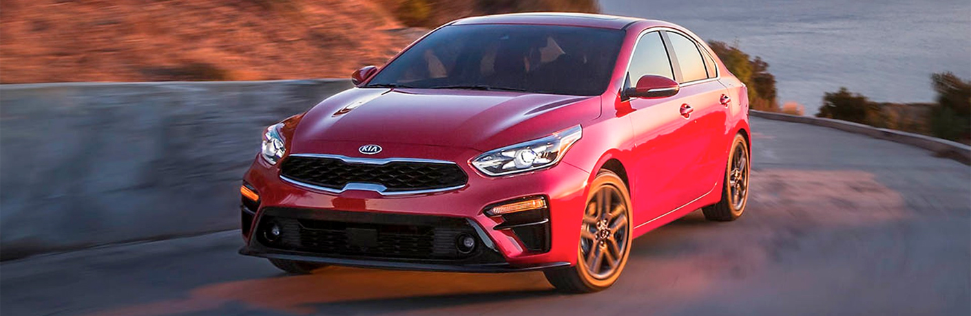 2019 Kia Forte in Red parked