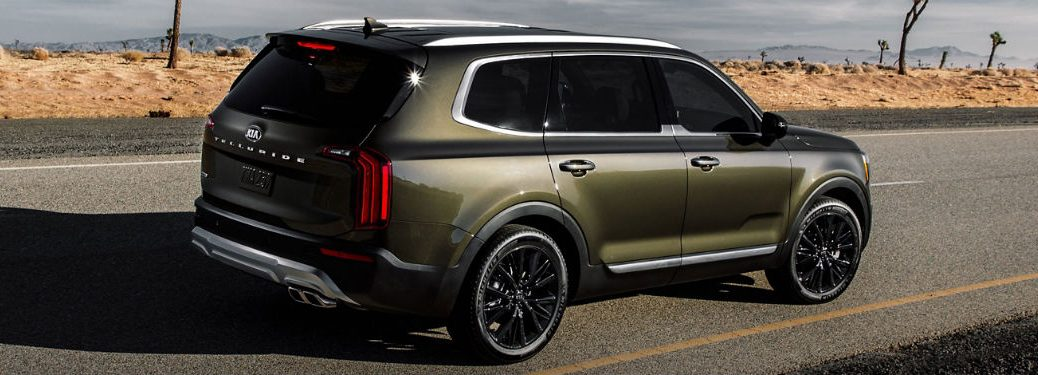 2020 Kia Telluride rear three-quarter shot