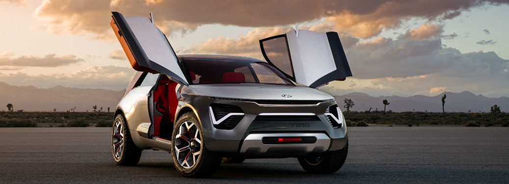 kia habaniro concept with butterfly doors open