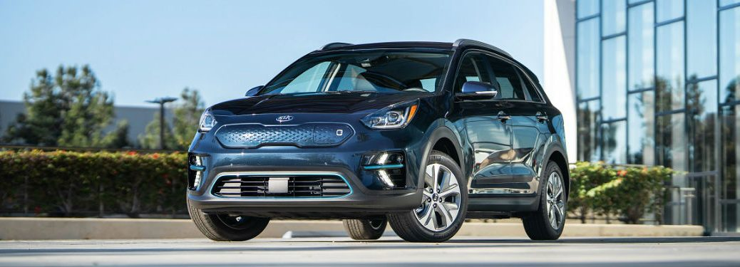 2019 Kia Niro EV on cement in front of house