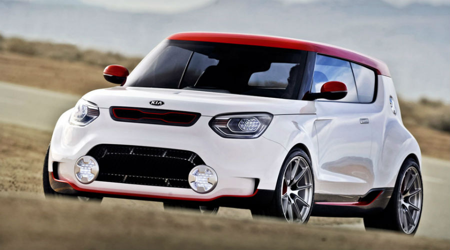 front of Kia track'ster crossover
