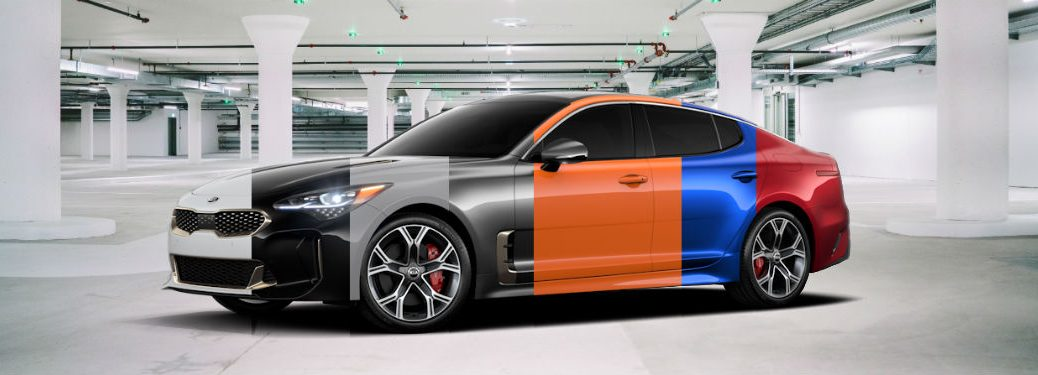 composite image of all colors for 2019 Kia Stinger