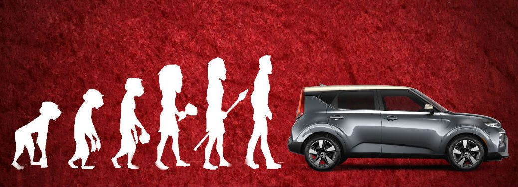 evolution chart with 2020 kia soul on the end