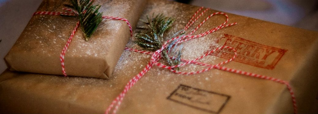 Packages tied together for the holidays