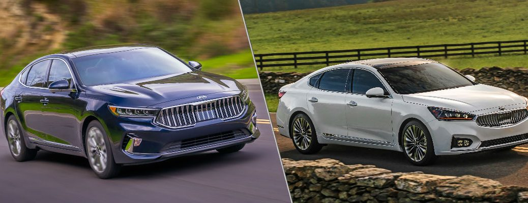 Black 2020 Kia Cadenza and white 2019 Kia Cadenza