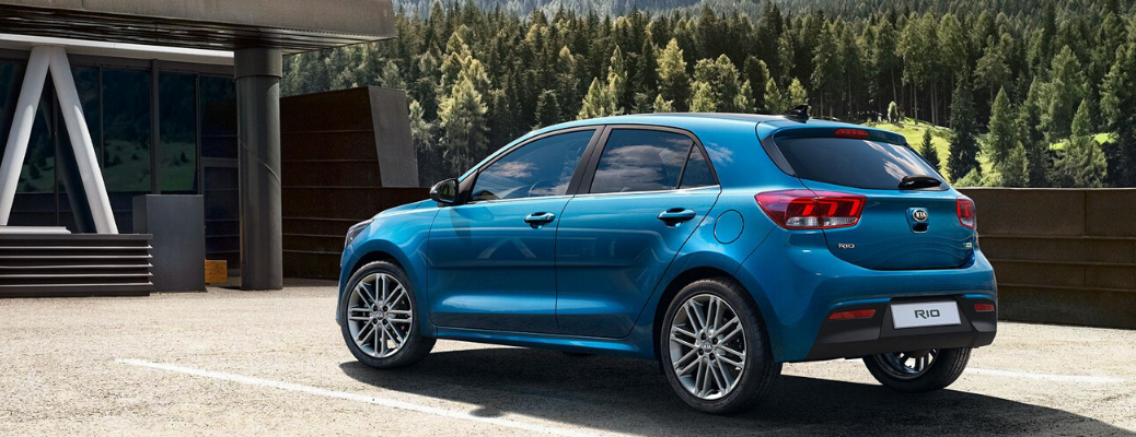 Blue European 2021 Kia Rio model