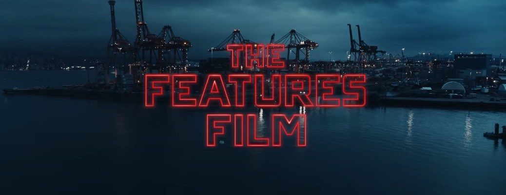 """The Features Film title card with """"The Features Film"""" written in red"""