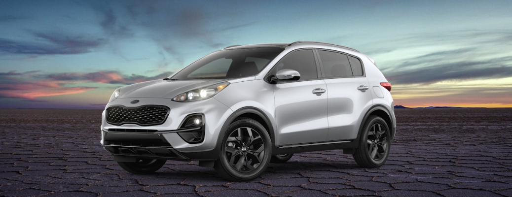 Silver 2021 Kia Sportage Nightfall Edition