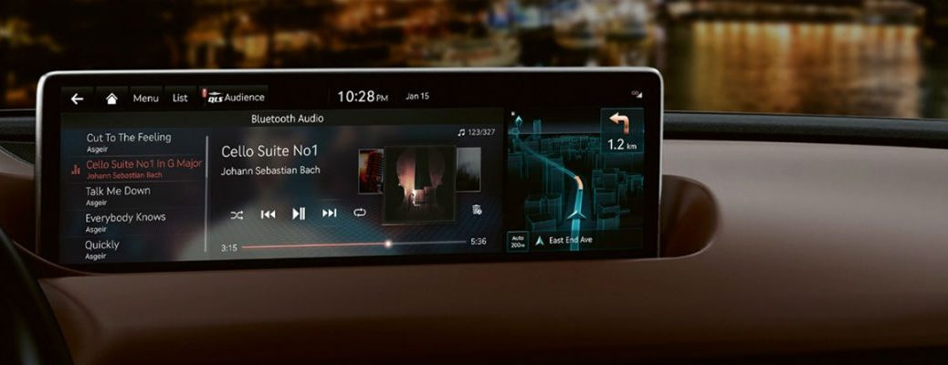 NVIDIA DRIVE Infotainment screen