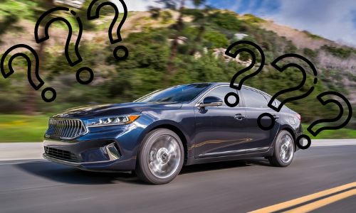 2020 Kia Cadenza with black question marks