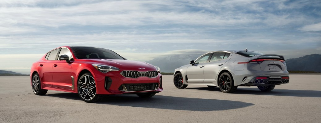 Red and silver 2022 Kia Stinger