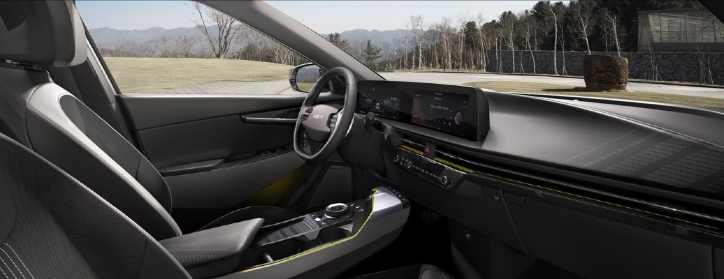 Interior view of 2022 Kia EV6