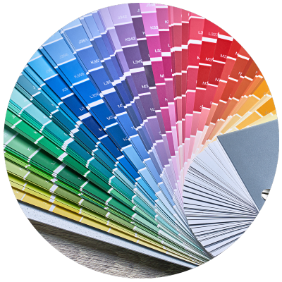 Circle image of color palettes
