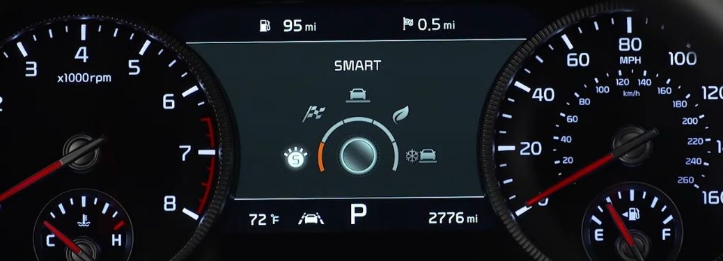 Kia drive modes display on the instrument cluster