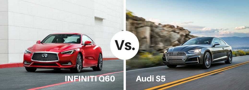 red infiniti q60 compared to silver audi s5
