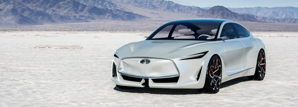 white infiniti q inspiration in desert