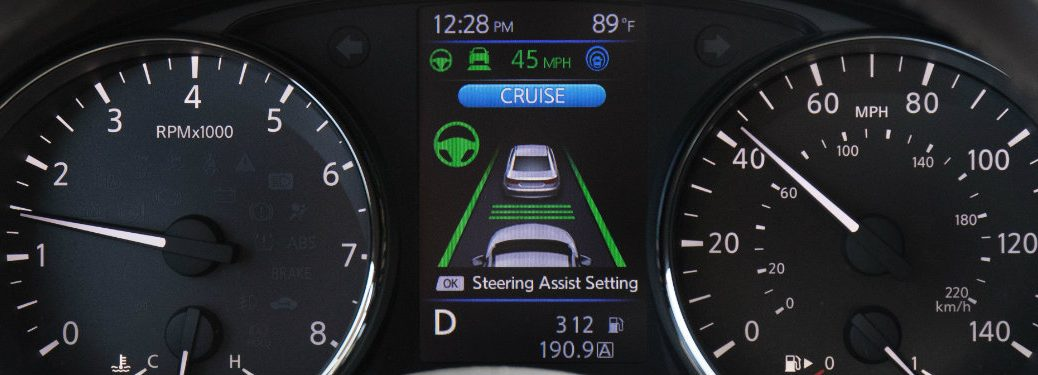 nissan radar cruise control screen