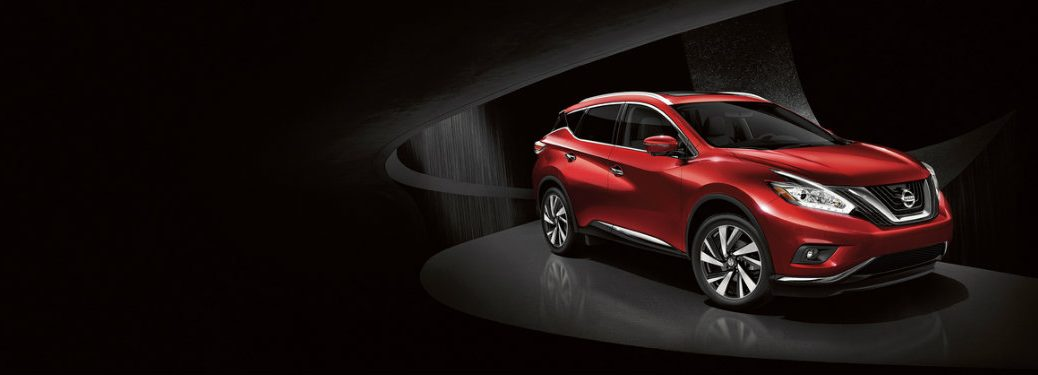 red nissan murano in shadows