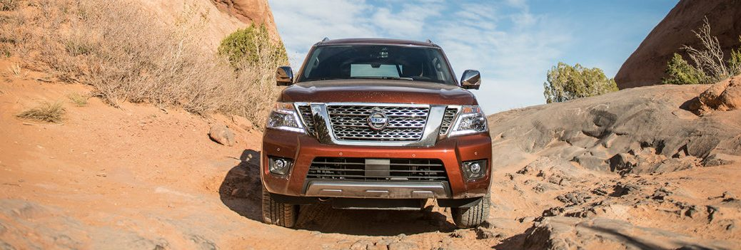 2019 Nissan Armada going off road
