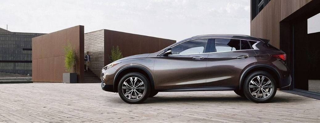 Exterior view of a bronze 2019 INFINITI QX30
