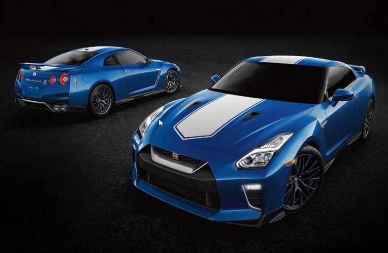 Image of the front and rear of a 2020 Nissan GT-R