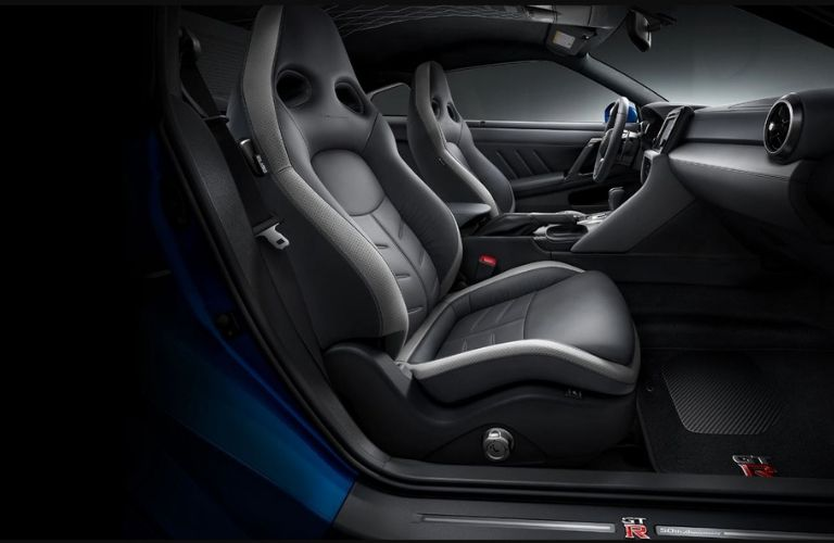 Interior view of the 50th Anniversary Edition of the 2020 Nissan GT-R