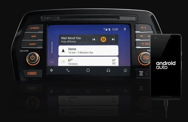 Closeup view of Android Auto™ on the 2020 Nissan Maxima touchscreen