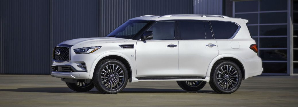 2020 infiniti QX80 edition 30 white exterior driver side slight front fascia