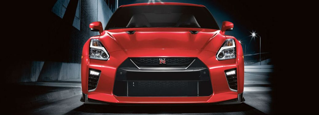 2020 Nissan GT R red exterior front fascia