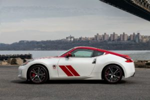 2020 Nissan 370z 50 red and white exterior driver side parked