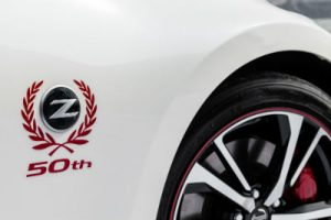 2020 Nissan 370z 50 white and red exterior side 50 anniversary badge