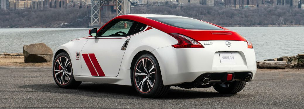 2020 Nissan 370z 50 anniversary rear fascia driver side parked by river