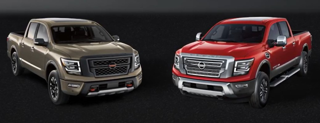 What are the differences between the 2020 Nissan TITAN and TITAN XD?