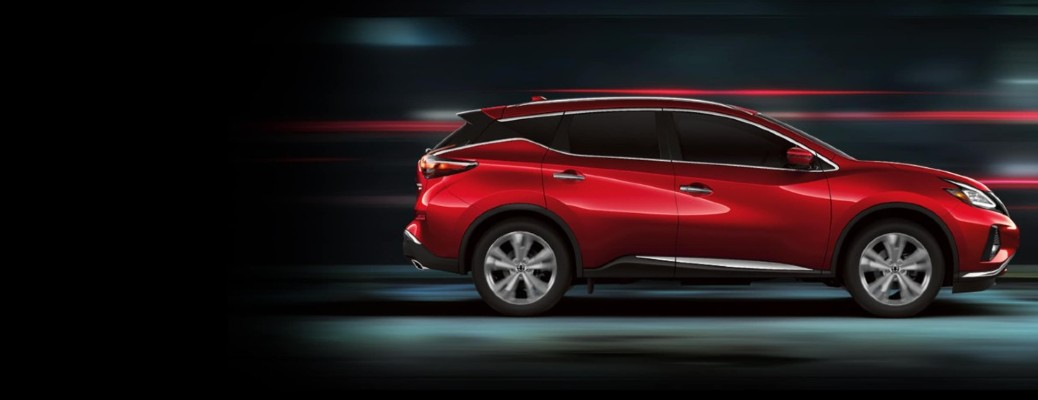 red 2020 Nissan Murano side view