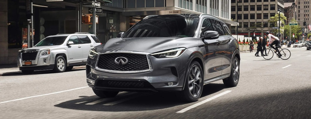 2020 Infiniti QX50 going down the road