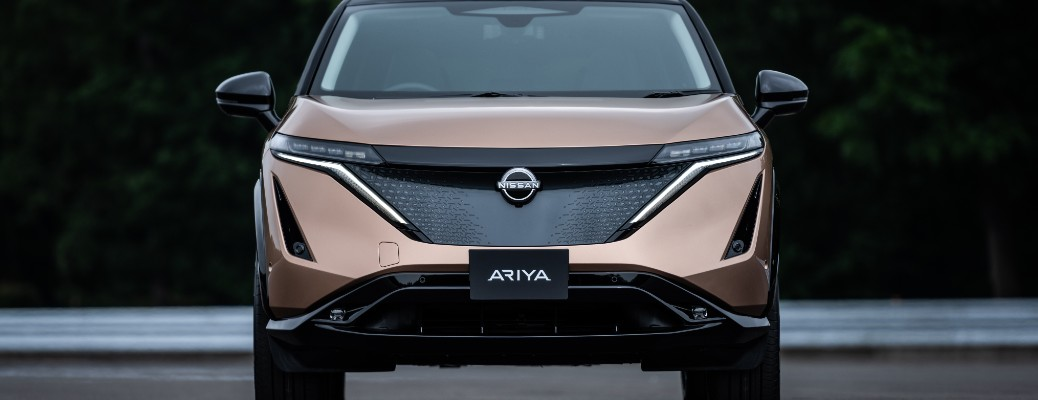 Front view of copper 2022 Nissan Ariya