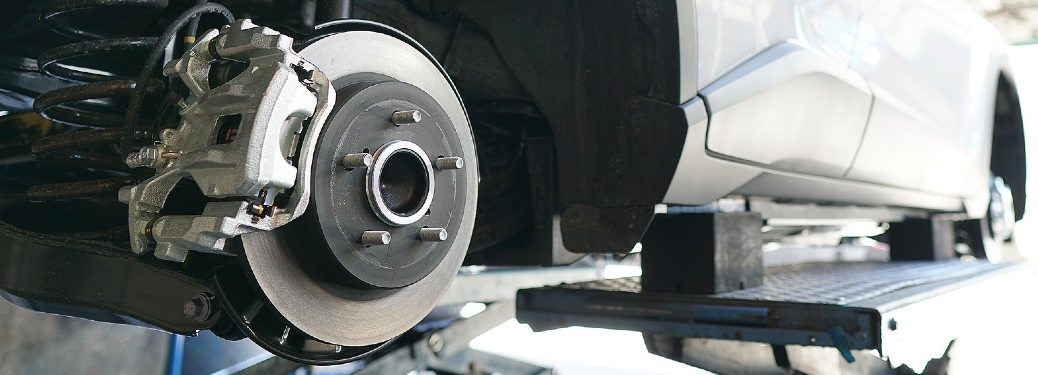 Car brakes and disc up close