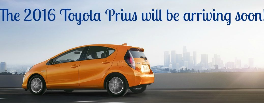 Official 2016 Toyota Prius arrival date San Jose CA