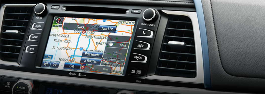 What kind of infotainment system does Toyota have?