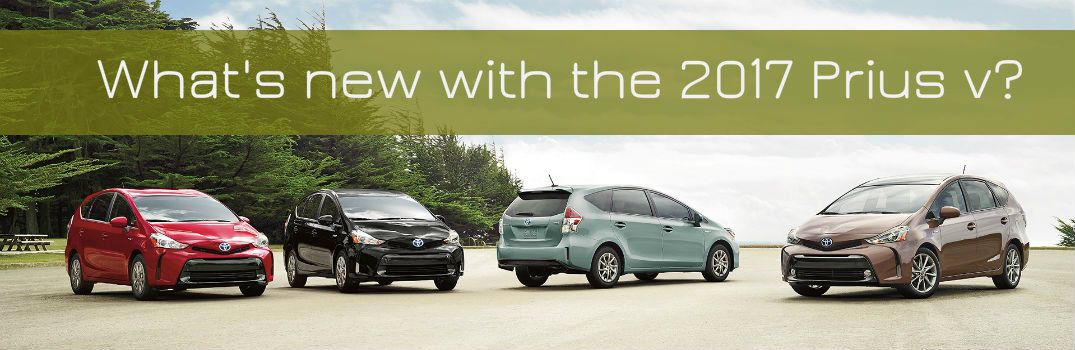 What's new with the 2017 Toyota Prius v?