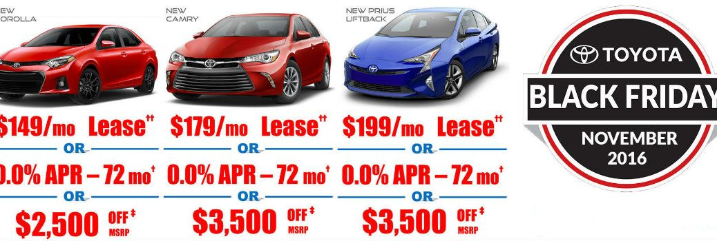 Does Toyota Palo Alto have a Black Friday Sales Event?