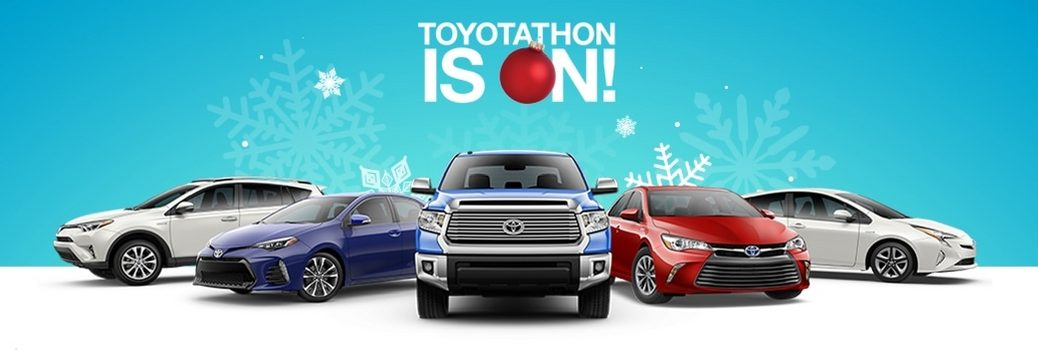 Are any 2017 vehicles includes in the Toyotathon?